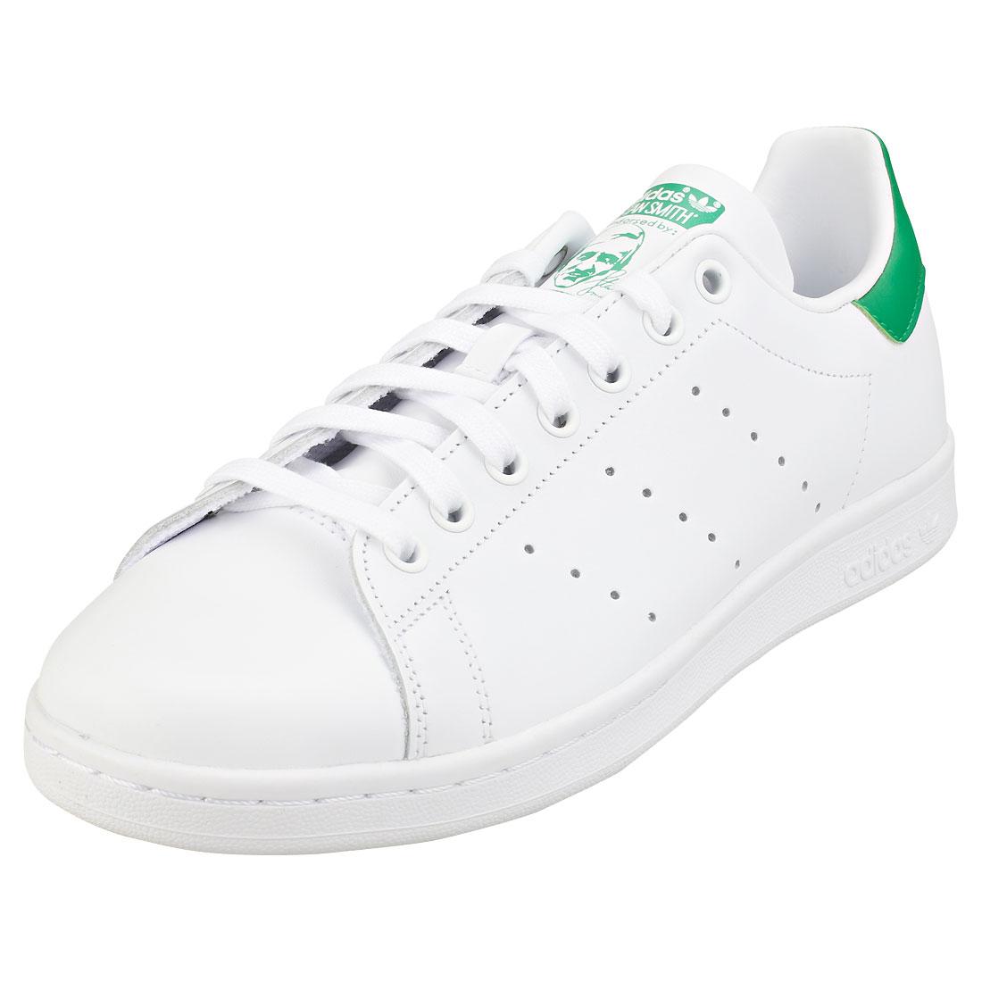adidas Stan Smith Damenschuhe WEISS Green Pelle Schuhe da Ginnastica - 7 UK