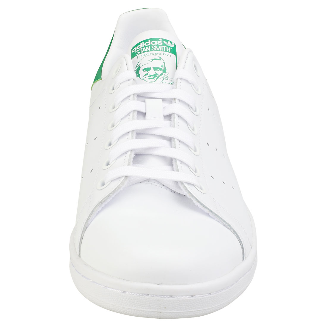 adidas Stan Smith Womens White Green Green White Leather Trainers - 6 UK 3b2168