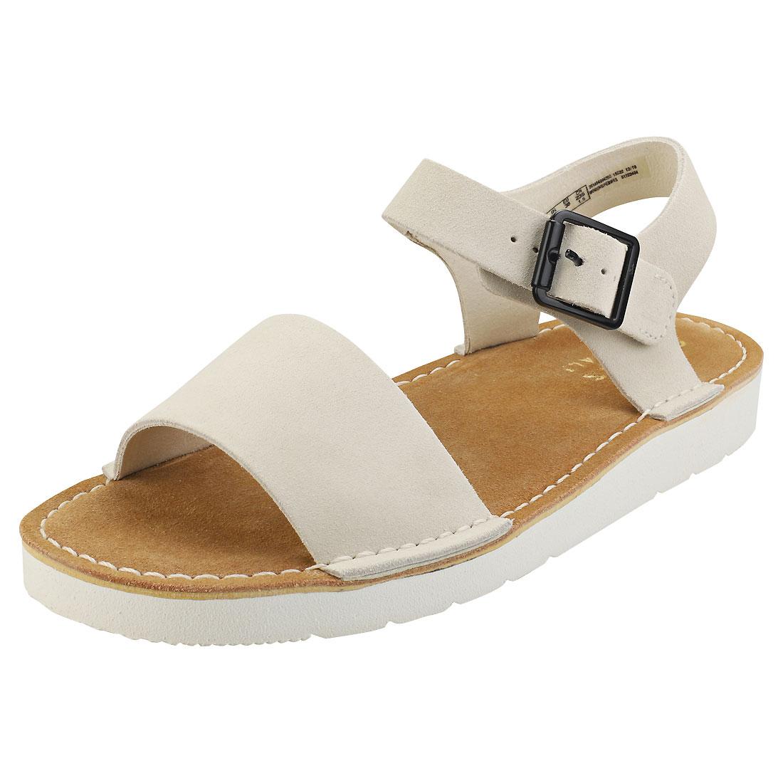 Ru cuerno vértice  Clarks Originals Lunan Strap Womens White Suede Walking Sandals | eBay