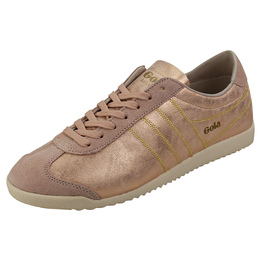 e607d6b13a5 Gola Bullet Lustre Shimmer Womens Blush Pink Suede   Synthetic Casual  Trainers