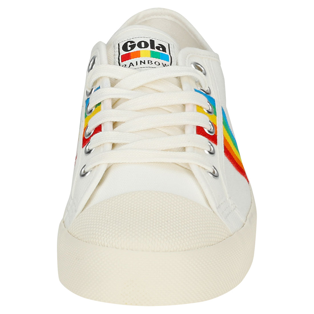 Gola Coaster Rainbow - Damenschuhe Off Weiß Multicolour Canvas Trainers - Rainbow 41 EU 62ffe8