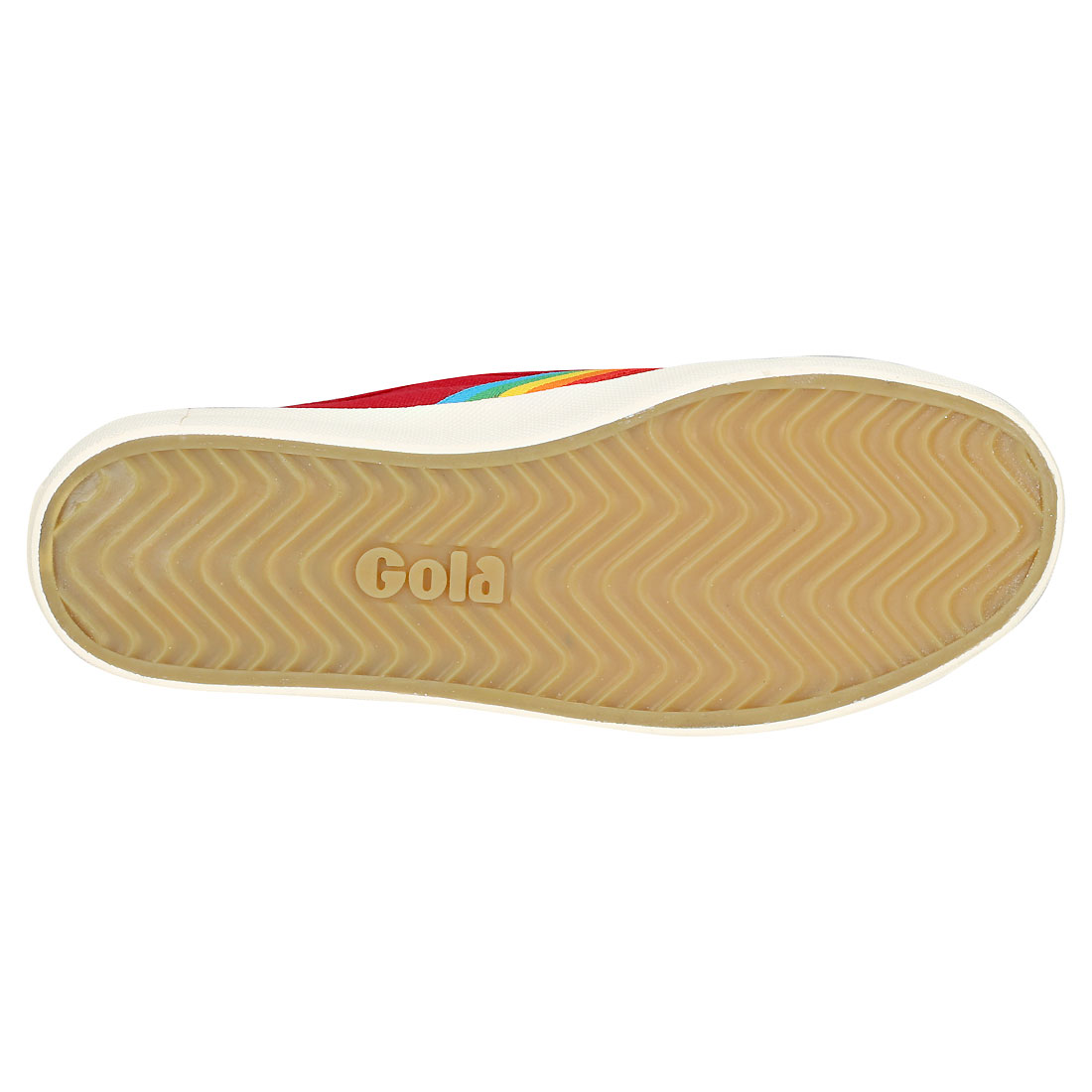 Gola Coaster Rainbow Damen Red Red Red Multicolour Leinwand Sneaker 01b775