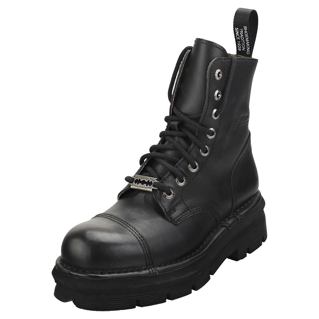 New Rock Military Stylish Boots Mixte adulte Bottes Classique Noir