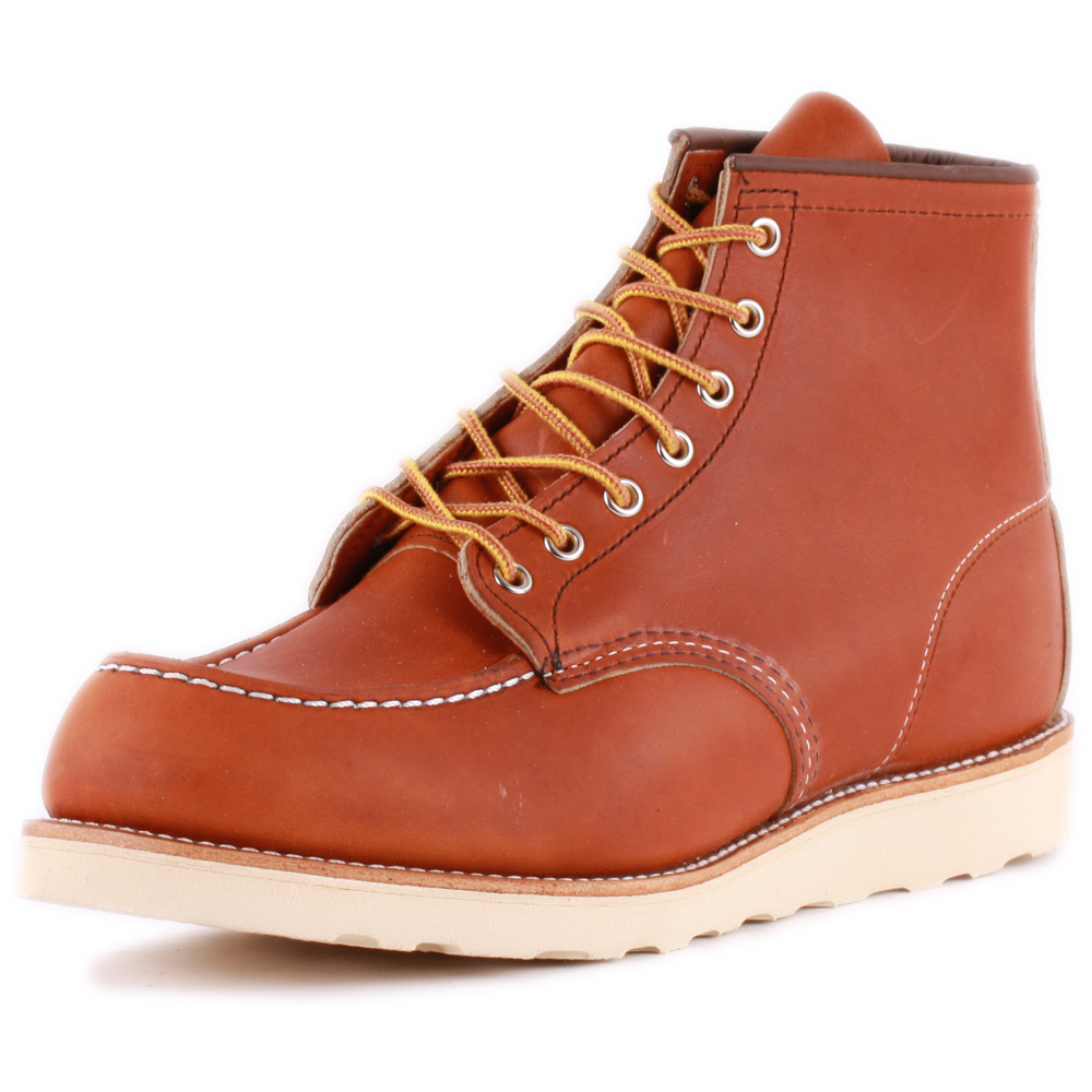 Red in Wing 6-Inch Moc Toe Mens Tan Stivali in Red Pelle - 11 UK c779d0