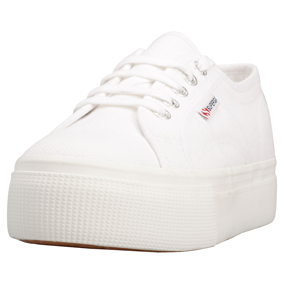Superga X Patternity 2790 Fancotw Damen White Black Leinwand Sneaker - 5 UK