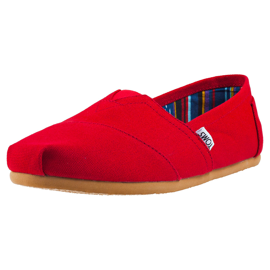 Image is loading Toms-Classic-Mens-Red-Canvas-Slip-On 7412b005a023