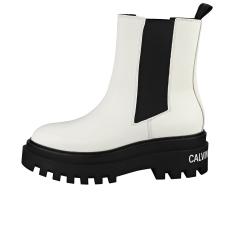 Calvin Klein FLATFORM MID Women Chelsea Boots in White