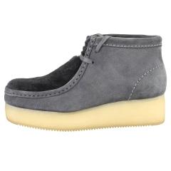 Clarks Originals WALLABEE WEDGE Women Wedge Boots in Dark Grey
