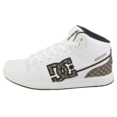 DC Shoes UNIVERSITY MID SE SN Women Fashion Trainers in White Brown