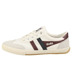 Gola BADMINTON Men Casual Trainers in Off White Burgundy