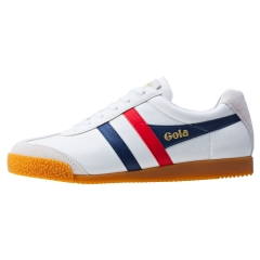 Gola HARRIER Men Classic Trainers in White Navy Red
