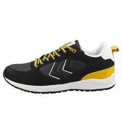 hummel 3-S HIKE Men Casual Trainers in Black White Yellow
