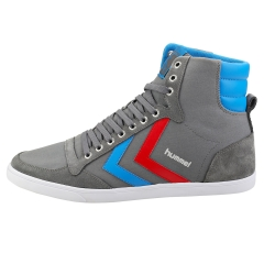 hummel SLIMMER STADIL HIGH Men Casual Trainers in Grey Blue