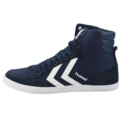 hummel SLIMMER STADIL HIGH Men Casual Trainers in Navy White