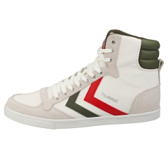hummel SLIMMER STADIL HIGH Men Casual Trainers in White Green