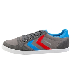 hummel SLIMMER STADIL LOW Men Casual Trainers in Grey Blue
