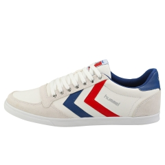 hummel SLIMMER STADIL LOW Men Casual Trainers in White Blue Red