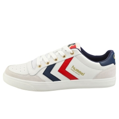 hummel STADIL LIMITED LOW Men Casual Trainers in White Blue Red