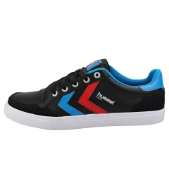 hummel STADIL LOW Men Casual Trainers in Black Blue Red