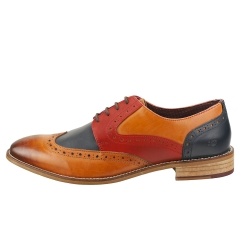 London Brogues TOMMY FOUR EYELET Men Brogue Shoes in Tan Navy Red