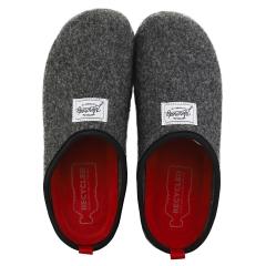 Mercredy SLIPPER BLACK BURGUNDY Men Slippers Shoes in Black Burgundy