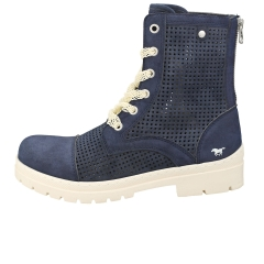 Mustang BACK ZIP BOOTS Women Ankle Boots in Dark Blue