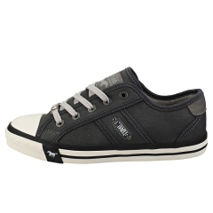 Mustang LACE-UP LOW TOP Women Casual Trainers in Graphite