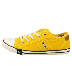 Mustang LACE UP LOW TOP Women Casual Trainers in Yellow