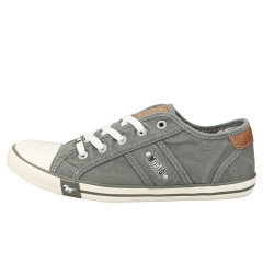 Mustang LACE UP LOW TOP Women Casual Trainers in Grey