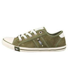 Mustang LACE UP LOW TOP Women Casual Trainers in Khaki