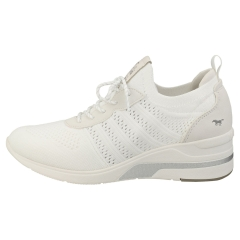 Mustang LACE UP LOW TOP SNEAKER Women Platform Trainers in White