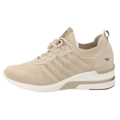 Mustang LACE UP LOW TOP SNEAKER Women Platform Trainers in Ivory