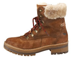 Mustang LACE UP SIDE ZIP WARM LINING Women Ankle Boots in Brown