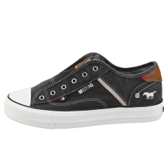 Mustang LACELESS LOW TOP Women Casual Trainers in Black