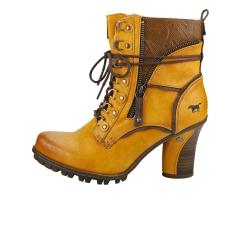 Mustang SIDE ZIP HEEL Women Ankle Boots in Yellow