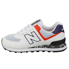 New Balance 574 Women Fashion Trainers in White Blue
