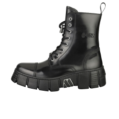 New Rock BOOT BLACK TOWER WITH LACES Unisex Platform Boots in Black