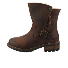 Oak & Hyde BRIDGE CESAR WOOL Women Ankle Boots in Brown