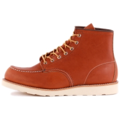 Red Wing 6-INCH MOC TOE Men Classic Boots in Tan
