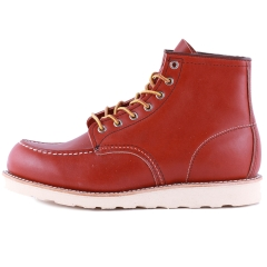 Red Wing 6-INCH MOC TOE Men Classic Boots in Rust