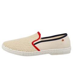 Rivieras TDM Unisex Espadrille Shoes in Beige Red