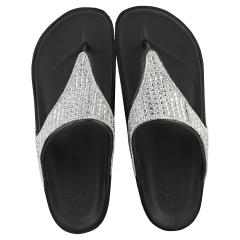 Skechers CALI BREEZE 2.0 Women Walking Sandals in Black Silver