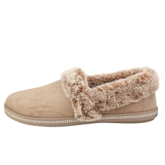 Skechers COZY CAMPFIRE Women Slippers Shoes in Dark Taupe