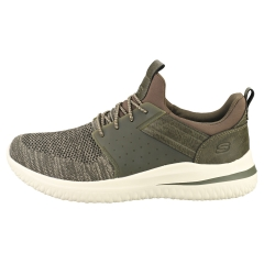 Skechers DELSON 3.0 CICADA Men Casual Trainers in Olive