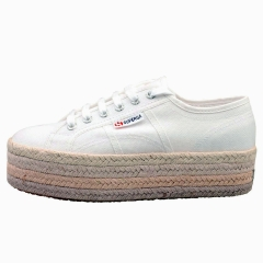Superga 2790 MULTICOLOR ROPE Women Platform Trainers in White Pink