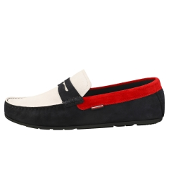 Tommy Hilfiger CLASSIC DRIVER Men Loafer Shoes in Navy White Red
