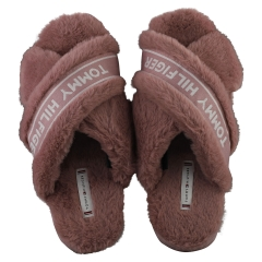 Tommy Hilfiger FURRY HOME Women Slippers Shoes in Mauve
