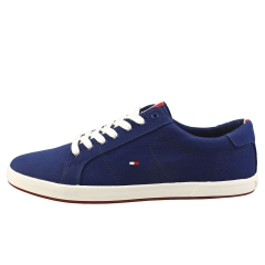 Tommy Hilfiger ICONIC LONG LACE SNEAKER Men Casual Trainers in Blue Ink