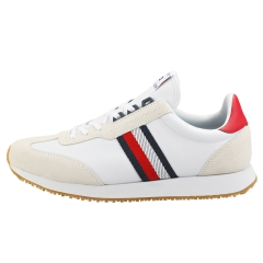 Tommy Hilfiger LO MIX RUNNER STRIPES Men Casual Trainers in White