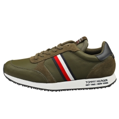 Tommy Hilfiger RUNNER LO STRIPES Men Fashion Trainers in Army Green
